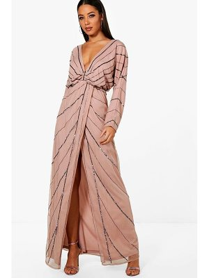 BOOHOO Boutique Mol Batwing Embellished Maxi Dress