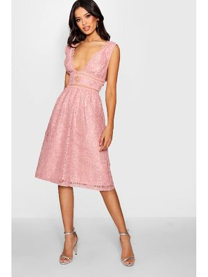 Boohoo Boutique Panelled Skater Dress