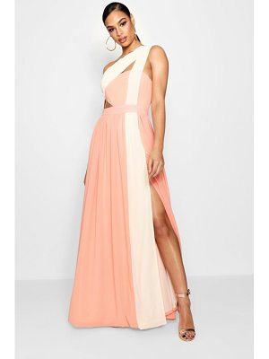 Boohoo Boutique  Cut Out Colour Block Maxi Dress