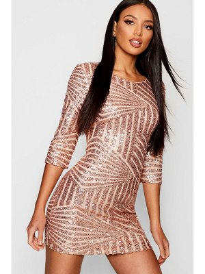 Boohoo Boutique Sequin Bodycon Dress