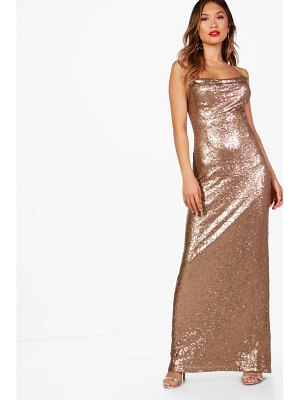 Boohoo Boutique Sequin Strappy Maxi Dress