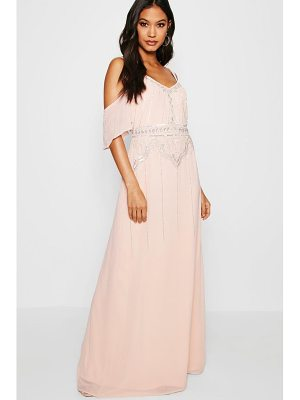 BOOHOO Boutique Zoe Embellished Waist Maxi Dress