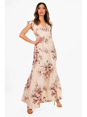 BOOHOO Boutique Aimee Floral Bow Back Maxi Dress