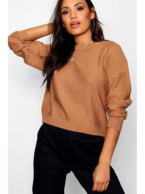 Boohoo Boxy Scoop Neck Jumper