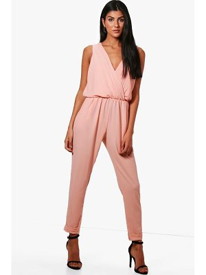 Boohoo Brielle Wrap Front Jumpsuit