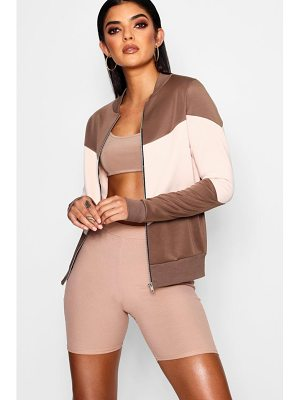 Boohoo Colour Block Bomber