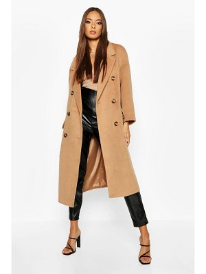 Boohoo Brushed Double Breasted Wool Look Coat