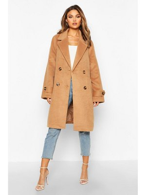 Boohoo Brushed Wool Look Pocket Detail Coat