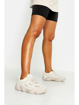 Boohoo Bubble Sole Lace Up Sneakers