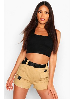 Boohoo Buckle Belted Utility Short