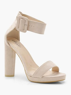 Boohoo Buckle Detail 2 Part Platform Heels