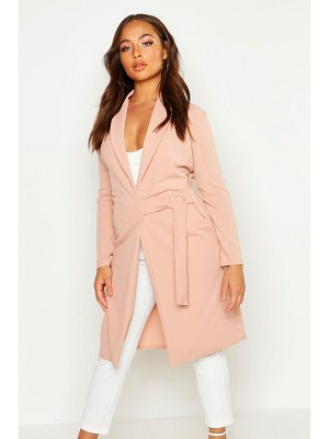 Boohoo Buckle Detail Belted Jacket