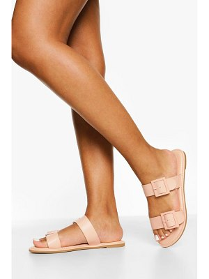 Boohoo Buckle Detail Double Strap Slider