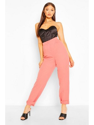 Boohoo Button Cuff Tapered Trouser
