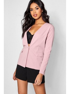 Boohoo Button Detail Pocket Blazer