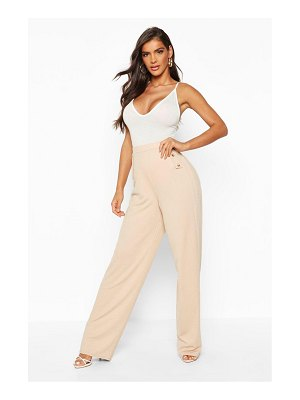 Boohoo Button Detail Tapered Trouser