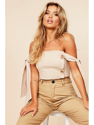 Boohoo Button Detail Top