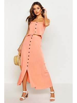 Boohoo Button Front Midi Skirt