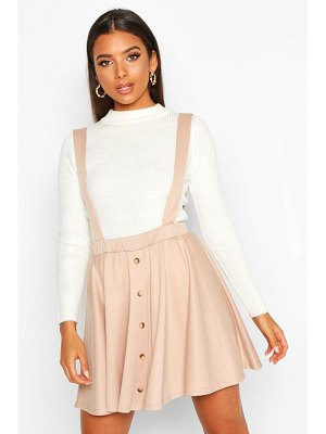 Boohoo Button Front Pinafore Skirt
