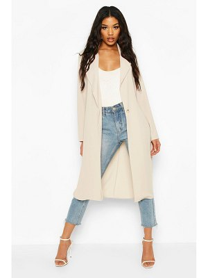 Boohoo Button Tailored Longline Duster Coat