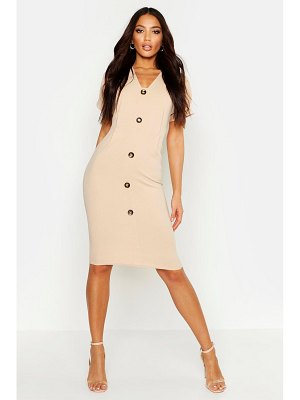 Boohoo Button Through Midi Dress