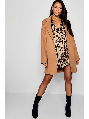 Boohoo Button Wool Look Coat