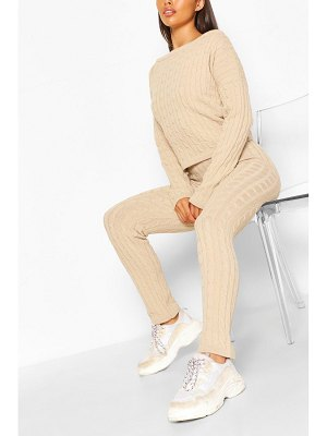 Boohoo Cable Knit Co-Ord