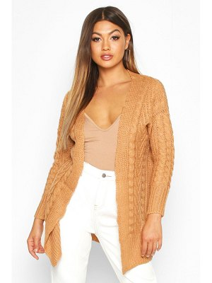 Boohoo Cable Knit Midi Cardigan