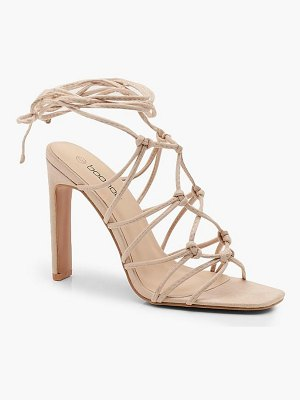 Boohoo Caged Front Flat Heel Sandals