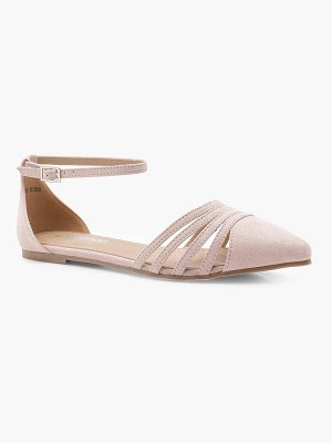Boohoo Caged Front Pointed Flats