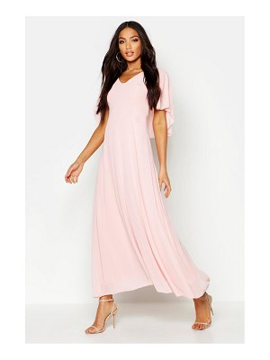 Boohoo Cape Detail Chiffon Maxi Dress