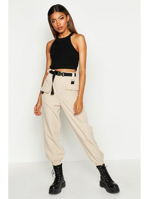 Boohoo Cargo Belted Pants