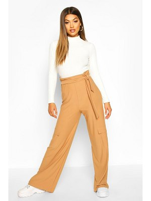 Boohoo Cargo Pocket Side Wide Leg Trouser