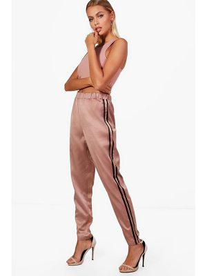 Boohoo Carmela Contrast Side Stripe Slim Fit Trousers