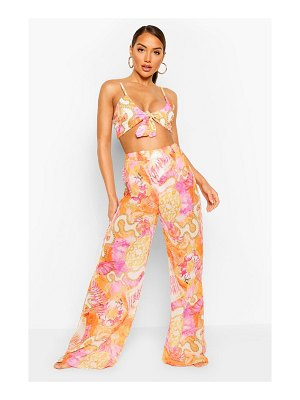 Boohoo Chain Print Beach Pants