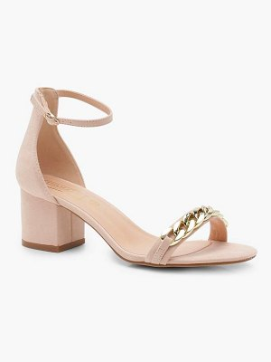 Boohoo Chain Strap Low Heel Two Part Sandals
