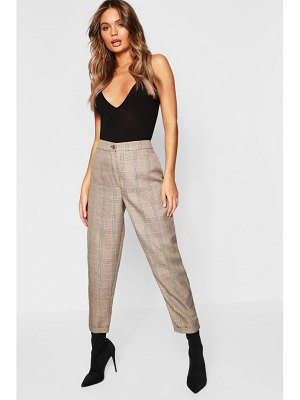 Boohoo Checked Tapered Trousers