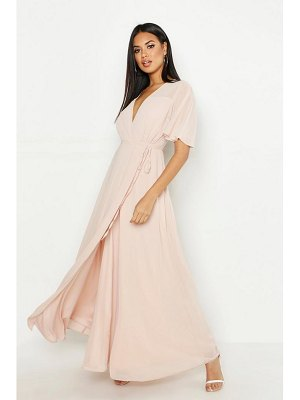 Boohoo Chiffon Angel Sleeve Maxi Dress