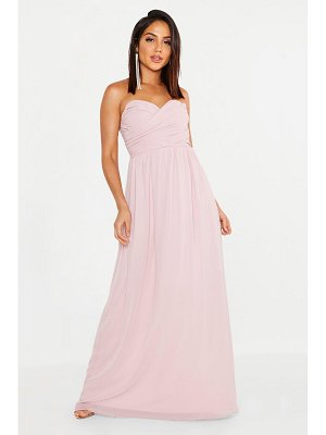 Boohoo Chiffon Bandeau Maxi Bridesmaid Dress
