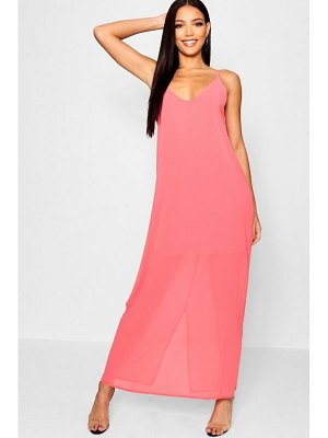Boohoo Chiffon Layered Maxi Dress