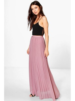 Boohoo Chiffon Pleated Maxi Skirt