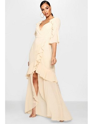Boohoo Chiffon Ruffle Maxi Dress