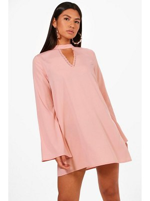 Boohoo Choker Lace Detail Shift Dress