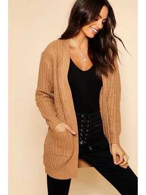 Boohoo Chunky Cardigan With Pockets