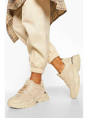Boohoo Chunky Cleated Sole Sneakers