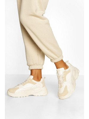 Boohoo Chunky Sole Lace Up Sneakers