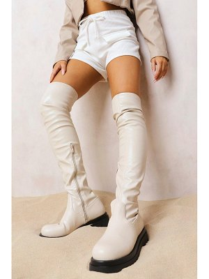 Boohoo Chunky Sole Stretch Over The Knee Boot