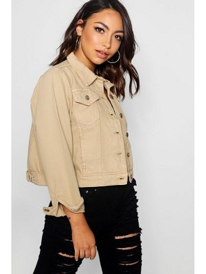 Boohoo Cindy Stone Denim Slim Fit Jacket