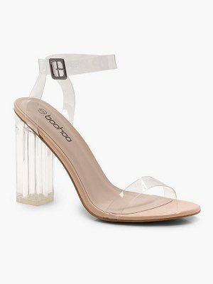 Boohoo Clear 2 Part Block Heels