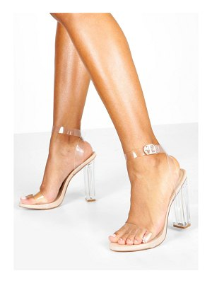 Boohoo Clear 2 Part Heel Sandals